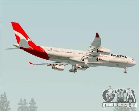 Airbus A340-300 Qantas для GTA San Andreas колёса