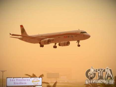 Airbus A321-232 Middle East Airlines для GTA San Andreas вид изнутри