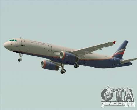 Airbus A321-200 Aeroflot - Russian Airlines для GTA San Andreas вид сзади слева
