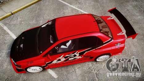 Mitsubishi Lancer Evolution IX Fast and Furious для GTA 4 вид справа