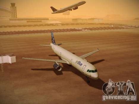 Airbus A321-232 jetBlue Do-be-do-be-blue для GTA San Andreas вид сверху