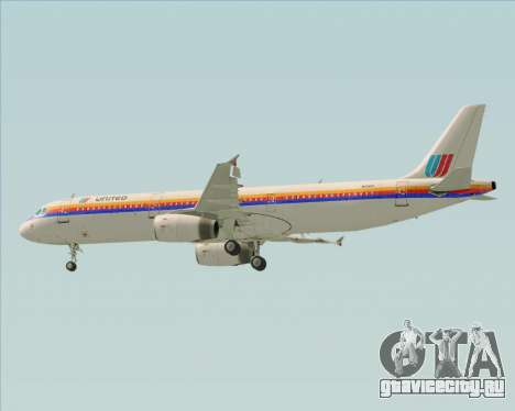 Airbus A321-200 United Airlines для GTA San Andreas двигатель