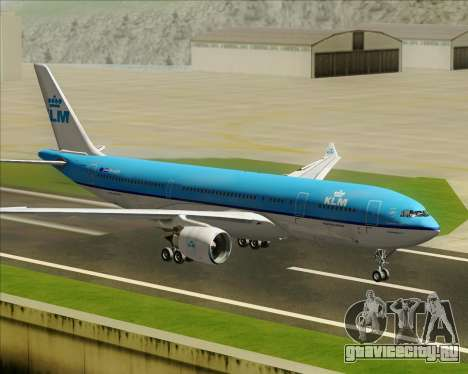 Airbus A330-200 KLM - Royal Dutch Airlines для GTA San Andreas вид изнутри