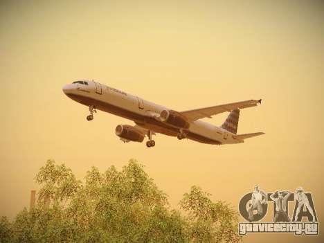 Airbus A321-232 jetBlue Airways для GTA San Andreas двигатель