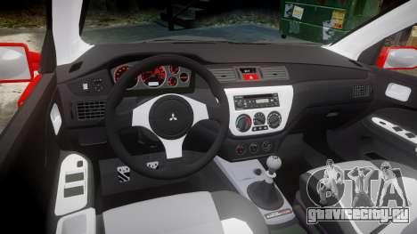 Mitsubishi Lancer Evolution IX Fast and Furious для GTA 4 вид изнутри