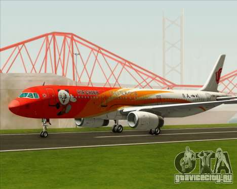 Airbus A321-200 Air China (Beautiful Sichuan) для GTA San Andreas вид сзади слева