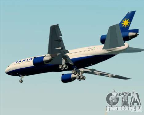 McDonnell Douglas DC-10-30 VARIG для GTA San Andreas вид сбоку