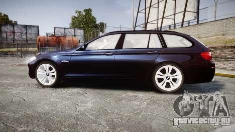 BMW 530d F11 Unmarked Police [ELS] для GTA 4 вид слева