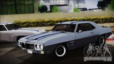 Pontiac Firebird Trans Am Coupe (2337) 1969 для GTA San Andreas