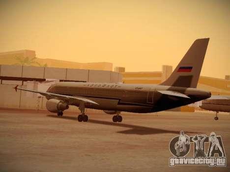 Airbus A320-214 Aeroflot Retrojet для GTA San Andreas вид справа