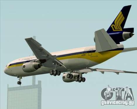 McDonnell Douglas DC-10-30 Singapore Airlines для GTA San Andreas вид сверху