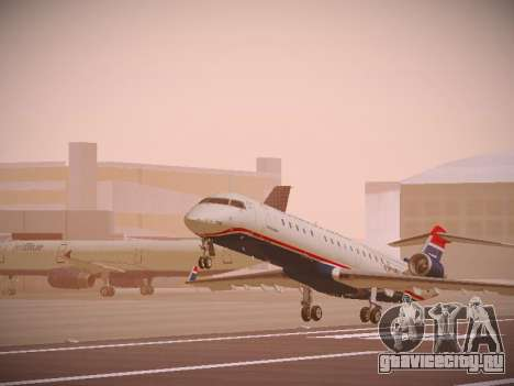 Bombardier CRJ-700 US Airways Express для GTA San Andreas вид слева