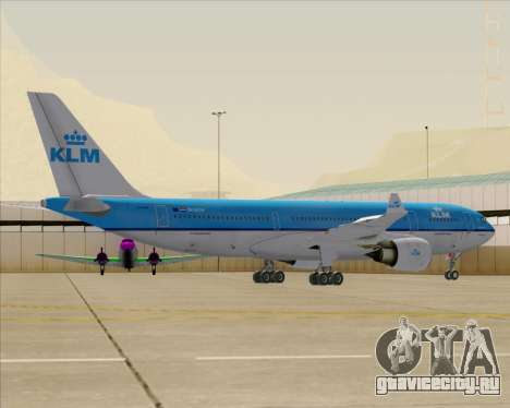 Airbus A330-200 KLM - Royal Dutch Airlines для GTA San Andreas колёса