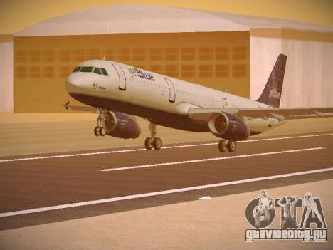Airbus A321-232 jetBlue Batty Blue для GTA San Andreas вид слева