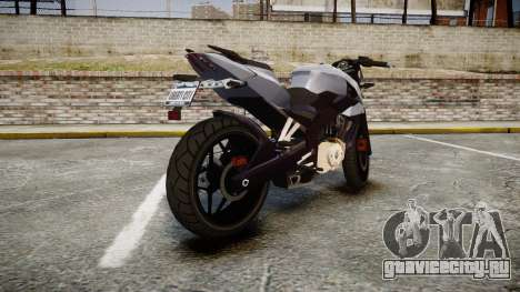 Bajaj Pulsar 200NS 2012 для GTA 4 вид сзади слева