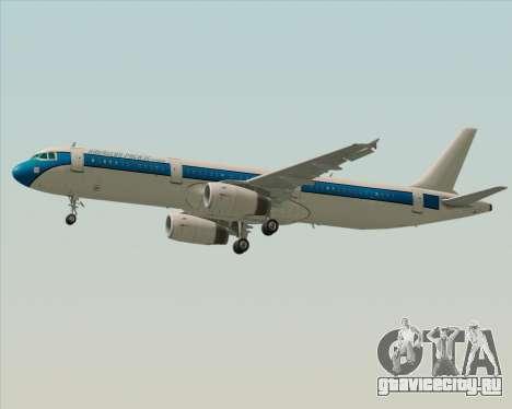Airbus A321-200 American Pacific Airways для GTA San Andreas вид изнутри