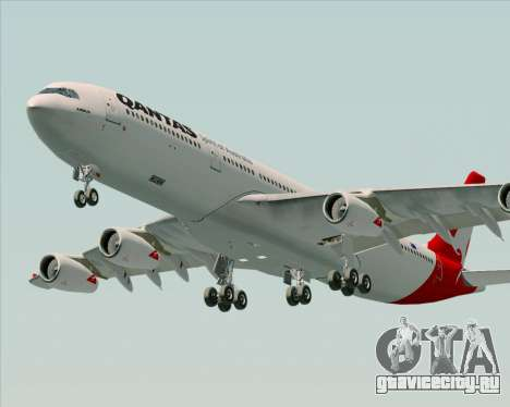 Airbus A340-300 Qantas для GTA San Andreas двигатель
