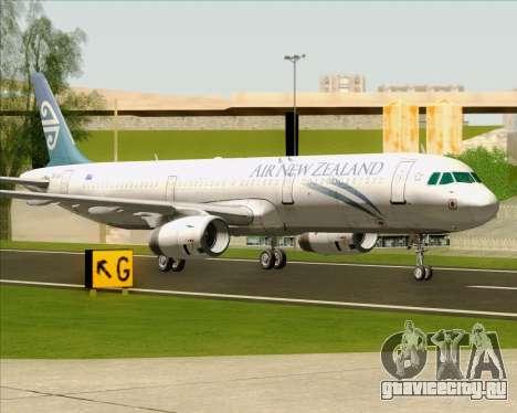 Airbus A321-200 Air New Zealand для GTA San Andreas вид слева