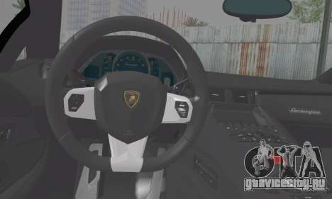 Lamborghini Avendator LP700-4 2012 для GTA San Andreas вид сзади слева