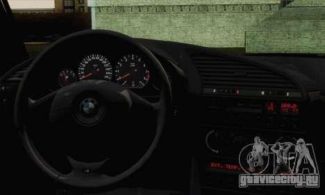 BMW M3 E36 Tuned для GTA San Andreas вид сзади слева