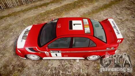 Mitsubishi Lancer Evolution VI Rally Marlboro для GTA 4 вид справа