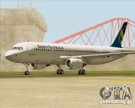 Airbus A320-200 Ansett Australia для GTA San Andreas вид справа