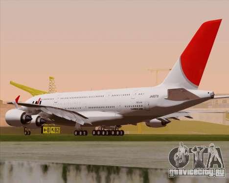 Airbus A380-800 Japan Airlines (JAL) для GTA San Andreas вид справа