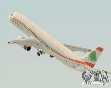 Airbus A321-200 Middle East Airlines (MEA) для GTA San Andreas