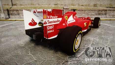 Ferrari F138 v2.0 [RIV] Massa TSD для GTA 4 вид сзади слева