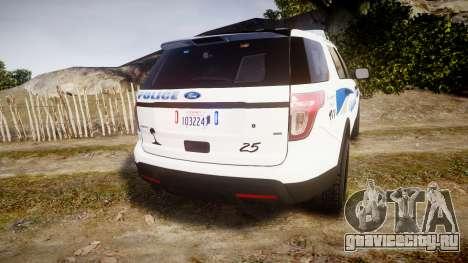 Ford Explorer 2013 PS Police [ELS] для GTA 4 вид сзади слева