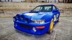 Subaru Impreza WRC 1998 Rally v2.0 Yellow для GTA 4