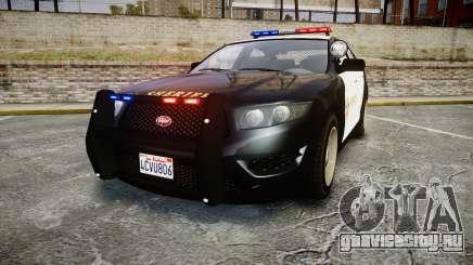 GTA V Vapid Interceptor LSS Black [ELS] для GTA 4