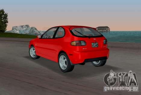 Daewoo Lanos Sport 2001 г. США для GTA Vice City вид сзади слева