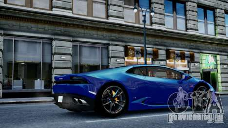 Lamborghini Huracan LP610-4 from Horizon 2 для GTA 4 вид сзади слева