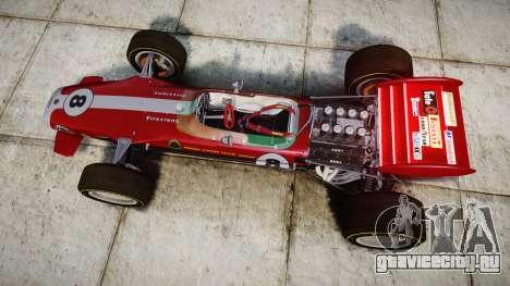 Lotus 49 1967 red для GTA 4 вид справа