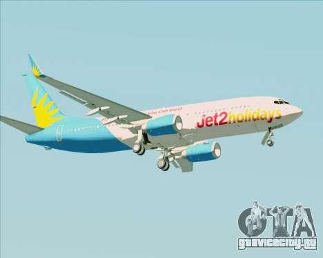 Boeing 737-800 Jet2Holidays для GTA San Andreas вид сбоку