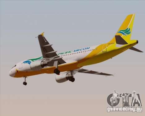 Airbus A320-200 Cebu Pacific Air для GTA San Andreas вид сбоку