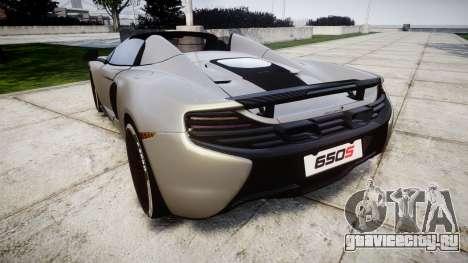 McLaren 650S Spider 2014 [EPM] v2.0 для GTA 4 вид сзади слева