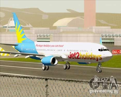 Boeing 737-800 Jet2Holidays для GTA San Andreas вид сзади слева