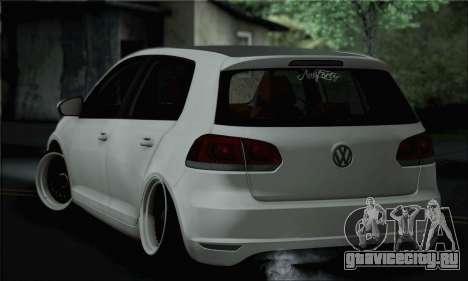 Volkswagen Golf R для GTA San Andreas вид слева