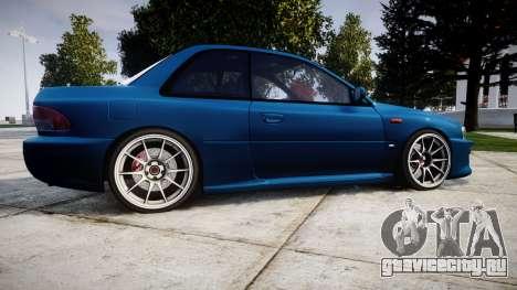 Subaru Impreza 22B Street для GTA 4 вид слева
