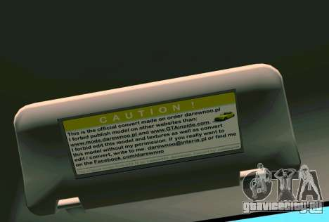 Daewoo Lanos Sport 2001 г. США для GTA Vice City колёса