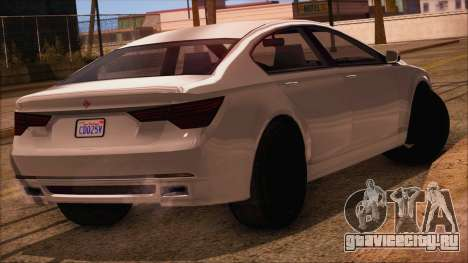 GTA 5 Ubermacht Sport IVF для GTA San Andreas вид слева