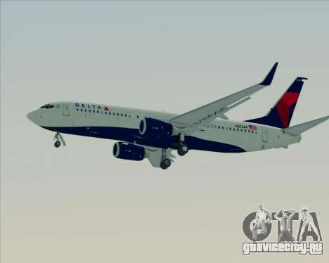 Boeing 737-800 Delta Airlines для GTA San Andreas колёса