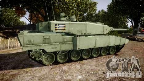 Leopard 2A7 GR Green для GTA 4 вид слева