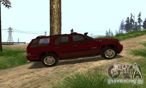 Chevrolet Tahoe Final для GTA San Andreas вид сверху