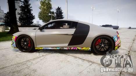 Audi R8 LMX 2015 [EPM] Sticker Bomb для GTA 4 вид слева