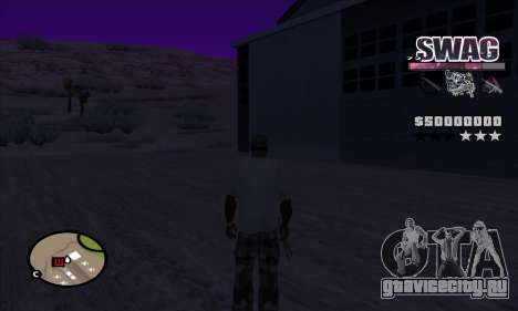 C-HUD Космический SWAG для GTA San Andreas третий скриншот