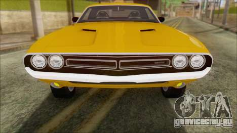 Dodge Challenger 1971 для GTA San Andreas вид справа