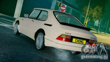 Saab 900 Coupe Turbo для GTA 4 вид слева
